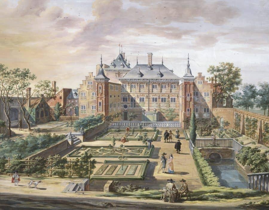 Fantasievoorstelling van het Tolhuis door Jacob van der Ulft (1654), The Fitzwilliam collection.