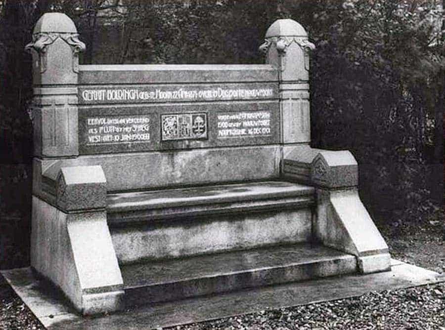 De Boldingh bank door Eduard Cuypers (1903) op het Kazerneplein te Gorinchem, Regionaal Archief Gorinchem.