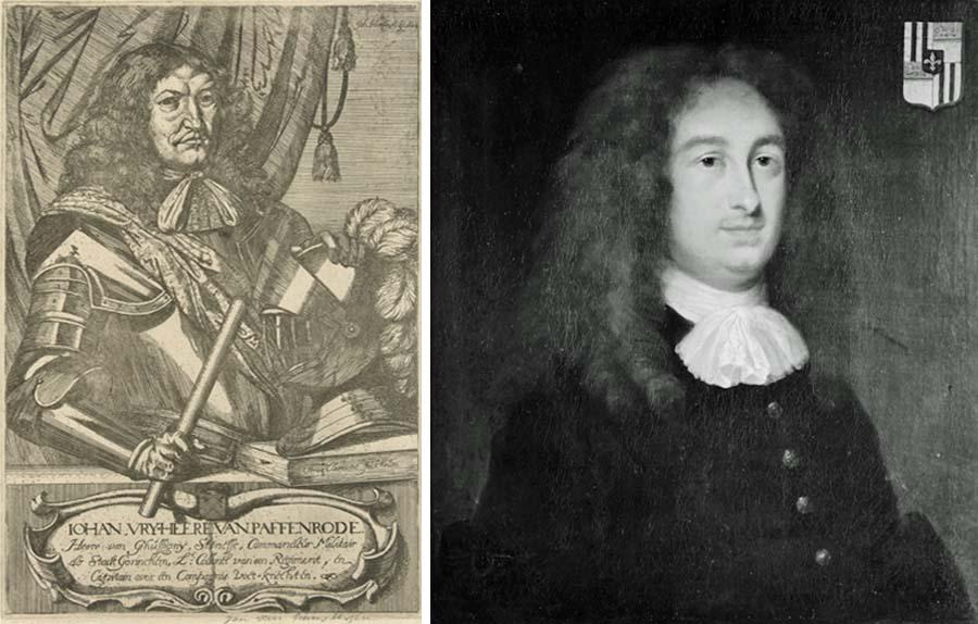 Johan van Paffenrode (links) en Lodewijk Huygens (rechts)