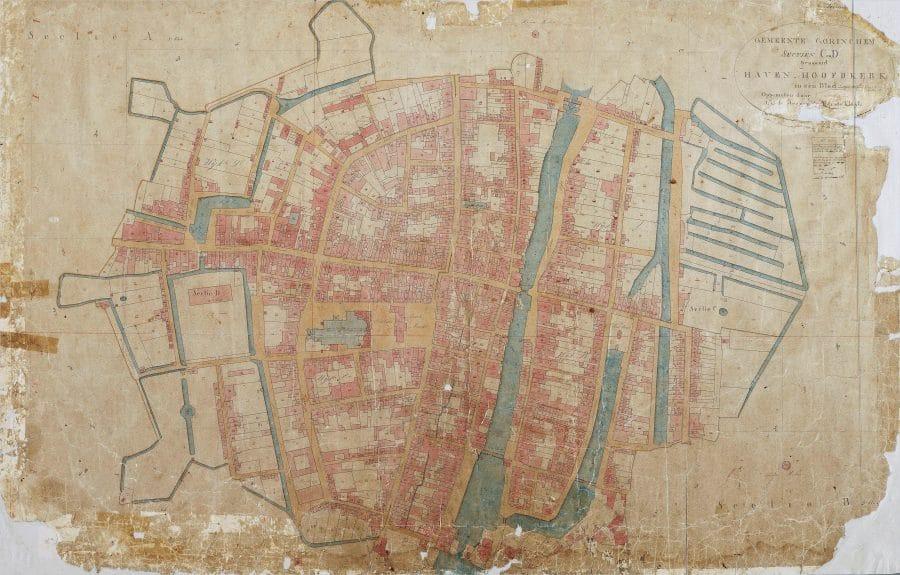 Kadastrale minuut binnenstad Gorinchem 1835.