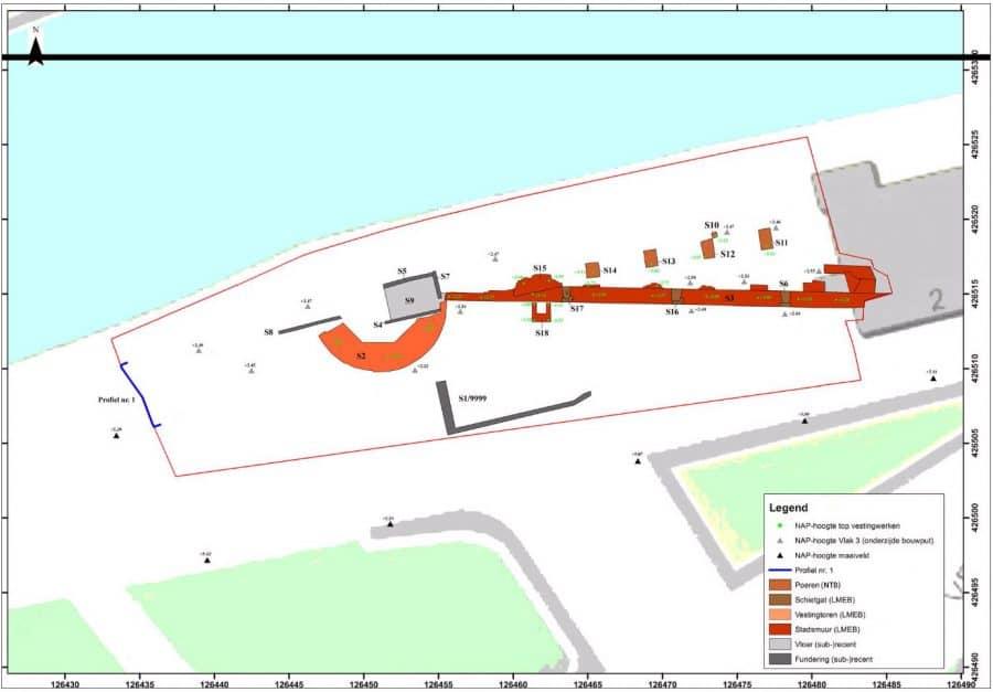 Overzichtskaart onderzoeksgebied Buiten de Waterpoort 2-6, Gorinchem