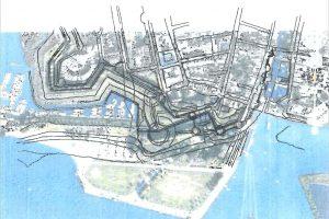 Reconstructie exacte ligging Blauwe Toren