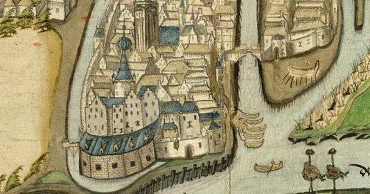 Blauwe Toren door Sluijters detail