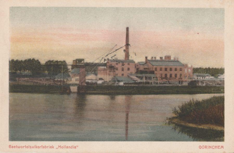 Ansichtkaart suikerfabriek Arkelsedijk Gorinchem ca. 1920