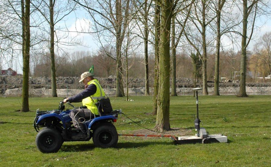 Voorbeeld van een non-destructief onderzoek met behulp van een grondradar