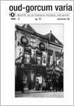 Koorevaar, T. (1996)<br /> Opgravingen in Gorinchem. Jaarverslag werkgroep Gorinchem, in: Oud-Gorcum Varia 13 nr. 35, p. 170.<br /> PDF (18 MB)