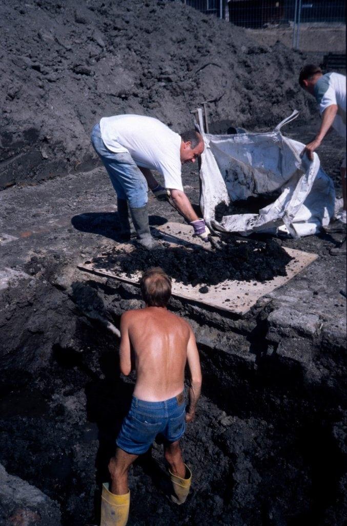 De archeologen op het Gorcumse Kazerneplein, die graven naar het Huis van Paffenrode, hebben vorige week een bijzondere ontdekking gedaan