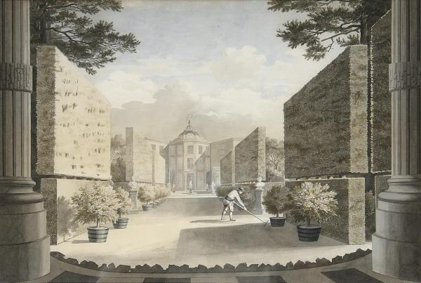 Gezicht op de tuin van Martinus van Barnevelt